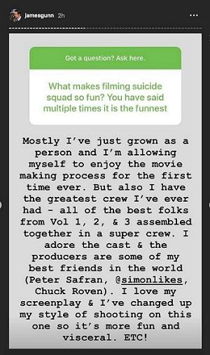 James Gunn/Instagram