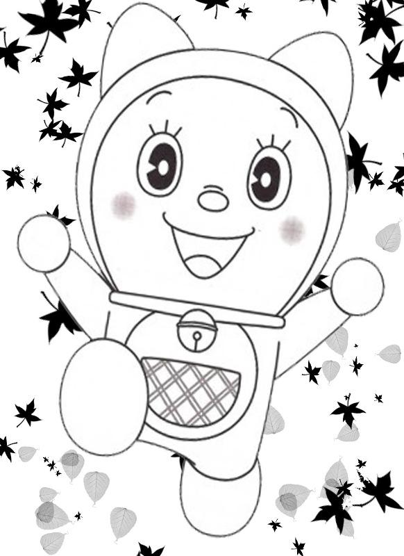 Belajar Mewarnai Gambar Kartun Kucing Dorami Yang Lucu Adik Doraemon