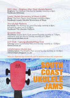 South Coast Uke Jams flyer designed by Daniela Gargiulo @ivyarch