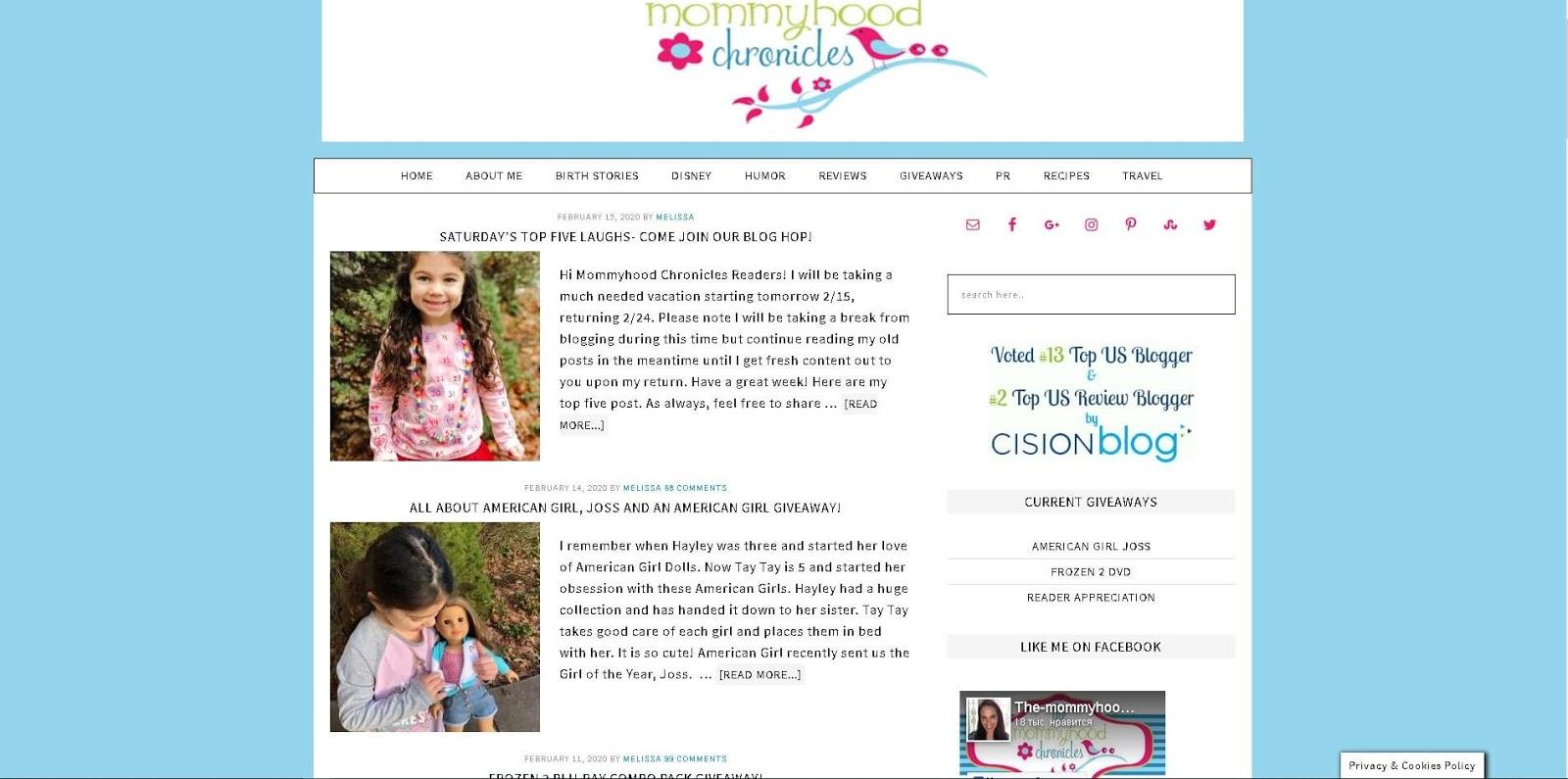 luchshie-blogi-mam-glavnaya-stranicza-mommyhood-chronicles-skrinshot