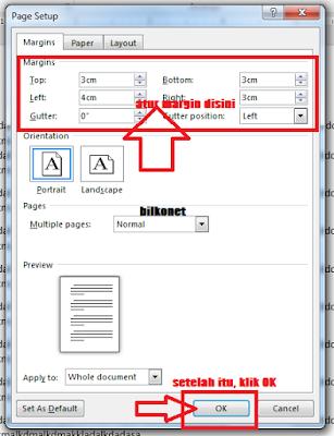 Cara Mengatur Margin Pada Microsot Word - Langkah 4