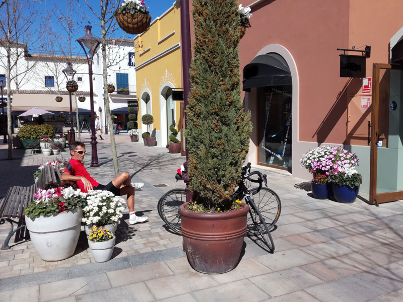 Fiori al centro commerciale di Marratxi a Maiorca