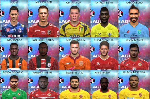 PES 2017 Liga 1 Gojek Traveloka Facepack V1 dari Dicky