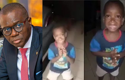 image result of Nigerian boy crying and asking his mummy to calm down