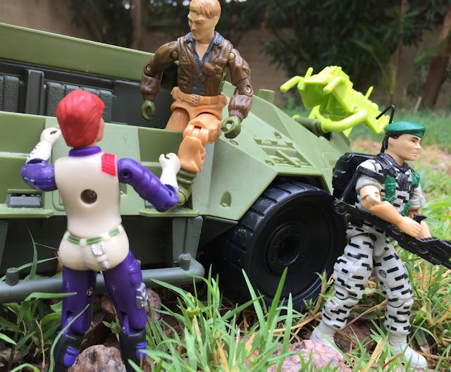 1987 Rumbler, Crossfire RC, 1991 Super Sonic Fighter Falcon, 2003 Toy Fare Scarlett, 1993 Monster Blaster APC, Mega Marines