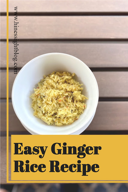 Easy Ginger Rice.  A  Delicious Side