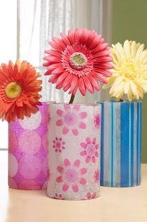 Tissue Paper Designer Vases