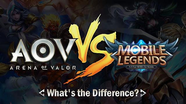 Arena of Valor vs Mobile Legends