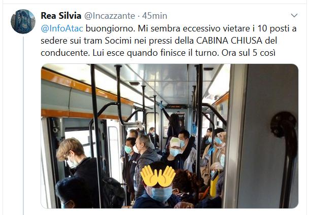 Situazione del trasporto pubblico di Roma di lunedì 4 aprile