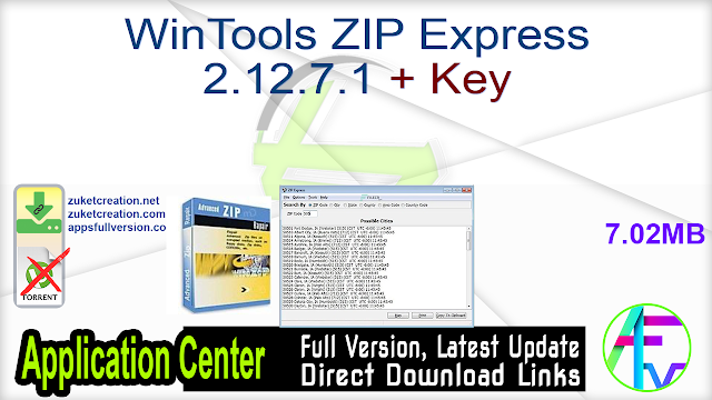 WinTools ZIP Express 2.12.7.1 + Key