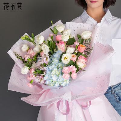 Kertas Buket Bunga / Flower Bouquet Wrapping Paper (Seri FLS-004)