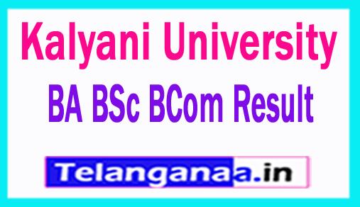 Kalyani University BA BSc BCom Result 2018