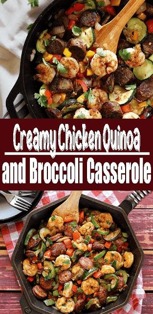 Creamy #Chicken Quinoa and Broccoli #Casserole