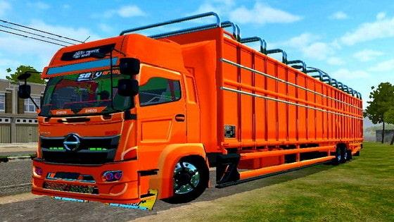 download mod truck hino c8 kerangka besi sumateraan
