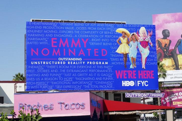 Were Here 2020 Emmy nominee billboard