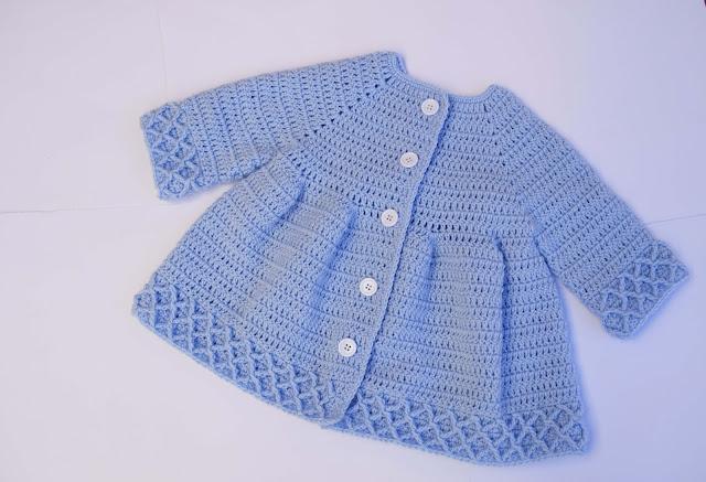 4 -Crochet Imagen Abrigo azul a crochet y ganchillo por Majovel Crochet