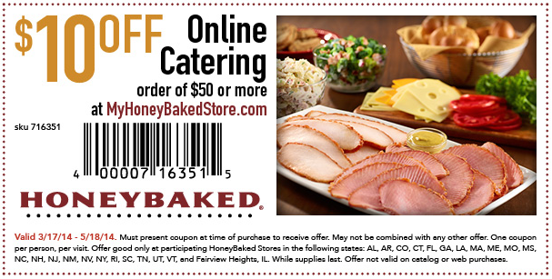 honey baked ham coupons 2018