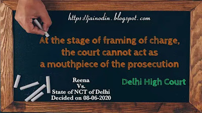 While framing charge court cannot act as a mouthpiece of the prosecution