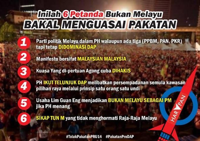 Inilah 6 Petanda Bukan Melayu Bakal Menguasai Pakatan #TolakPH #JomBN