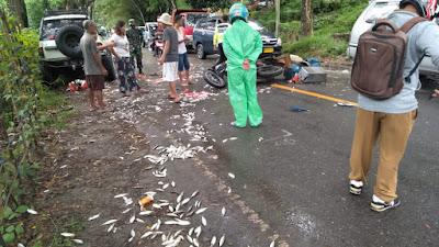 Lakalantas di Jalan Poros Makale-Rantepao Menewaskan Seorang Pengendara Motor