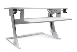 height adjustable desktop attachment for sitting and standing