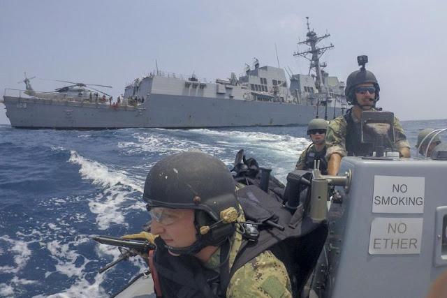 Ketegangan Meningkat, Kapal Perang AS Dekati Pulau Milik Cina