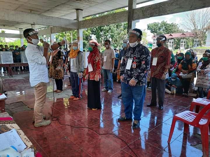 KPU Labuhanbatu Bersama PPK  Kecamatan Rantau Utara Menggelar Simulasi Pemungutan dan Perhitungan Suara