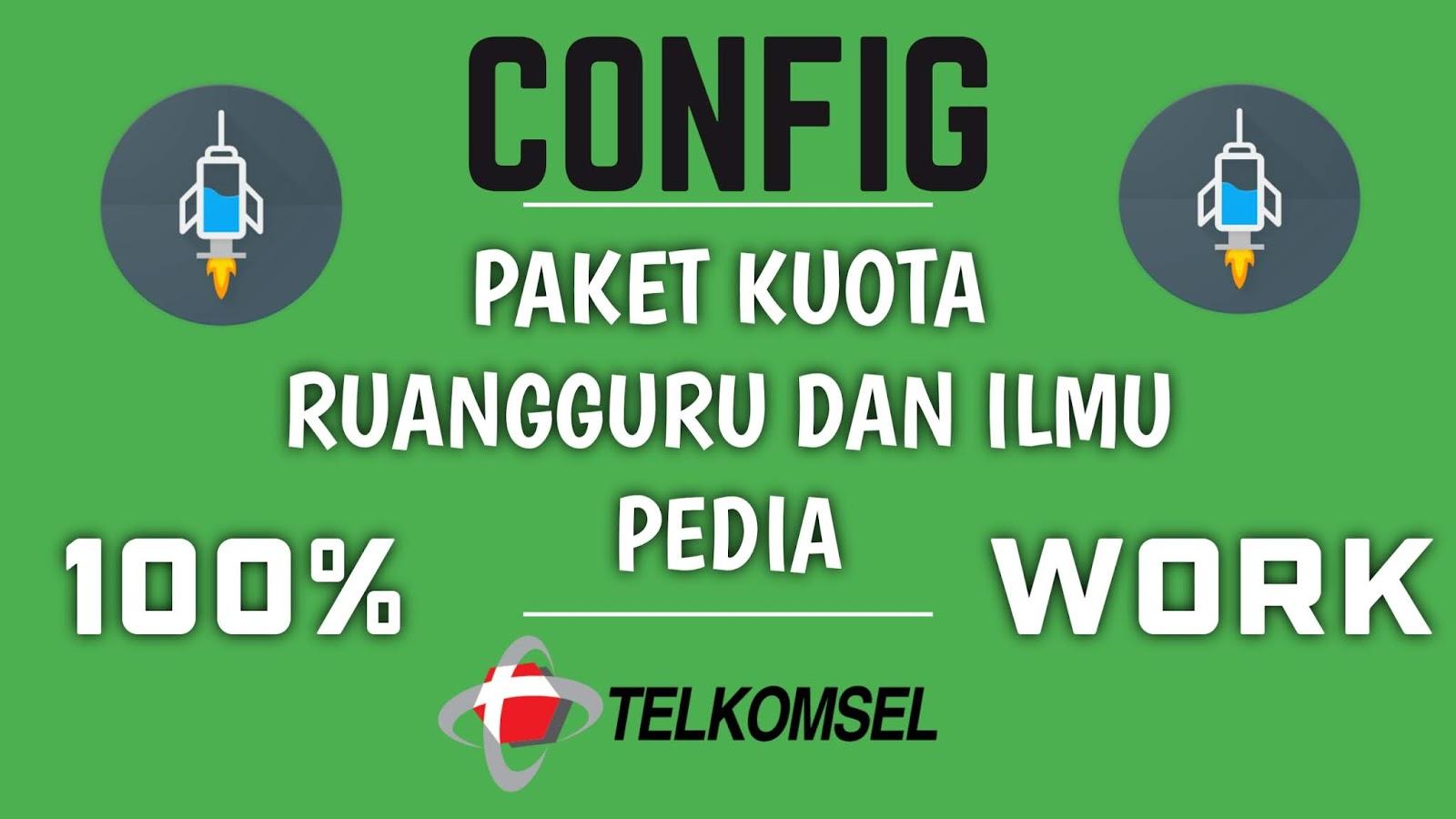 Download Config Paket Kuota Ruangguru dan Ilmupedia HTTP Injector Telkomsel 100% Work - Mastah Cyber