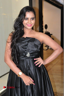 Actress Manasa Himavarsha Pictures in Black Short Dress at The Great Hydrerabad Life Style EXPO II  0014.JPG