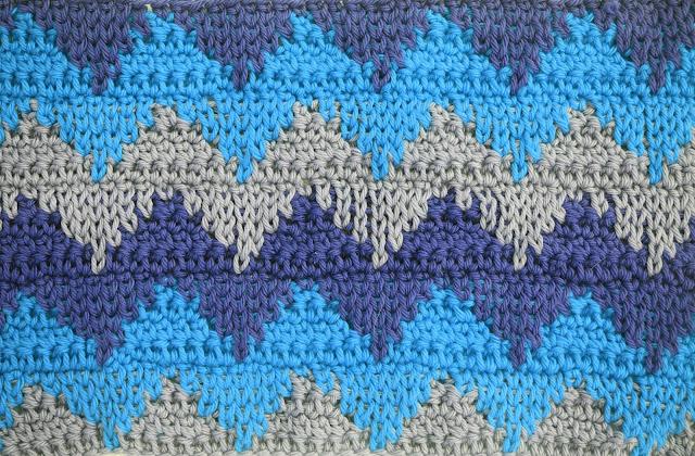 6 - Crochet Imagen Puntada otoñal para mantas y cobijas a crochet Majovel Crochet ganchillo bareta videotutorial paso DIY sencillo