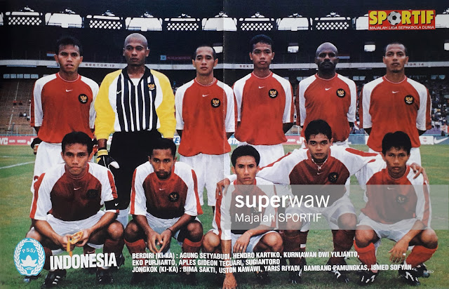 POSTER TIM NASIONAL INDONESIA 2001