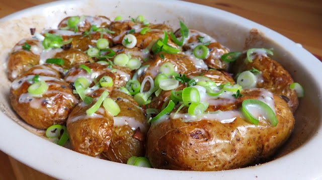 Buffalo Crispy Baked Potatoes
