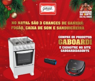 Cadastrar Promoção Gaboardi Natal 2020 Sorteio Prêmios
