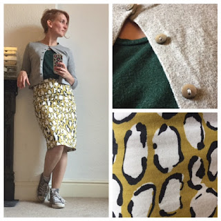 Boden animal print skirt worn casual