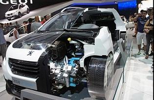 Hybrid Car Cutsection