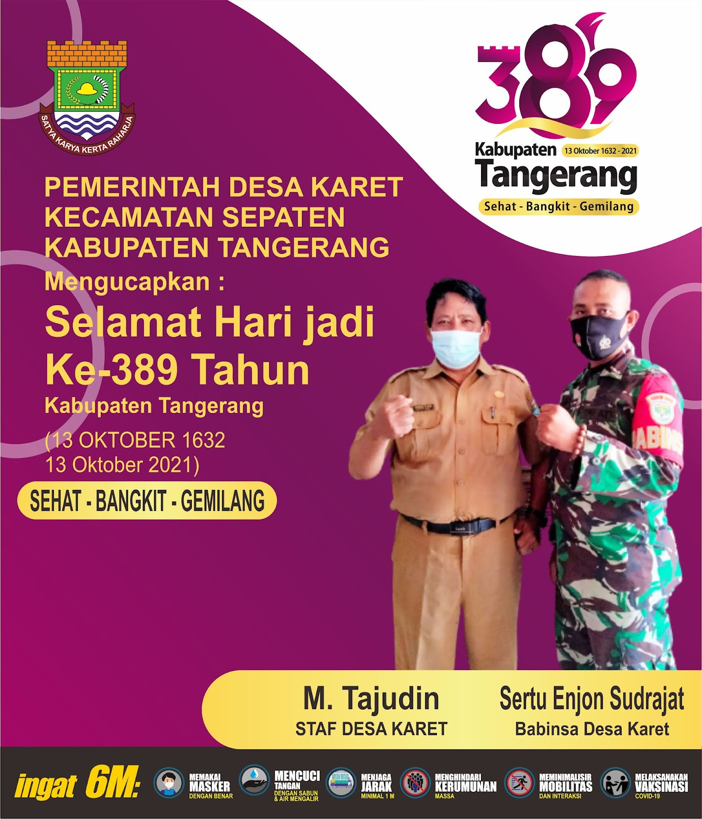 Hari Jadi Kabupaten Tangerang Ke-389 Pemerintahan Desa Karet Kecamatan Sepatan