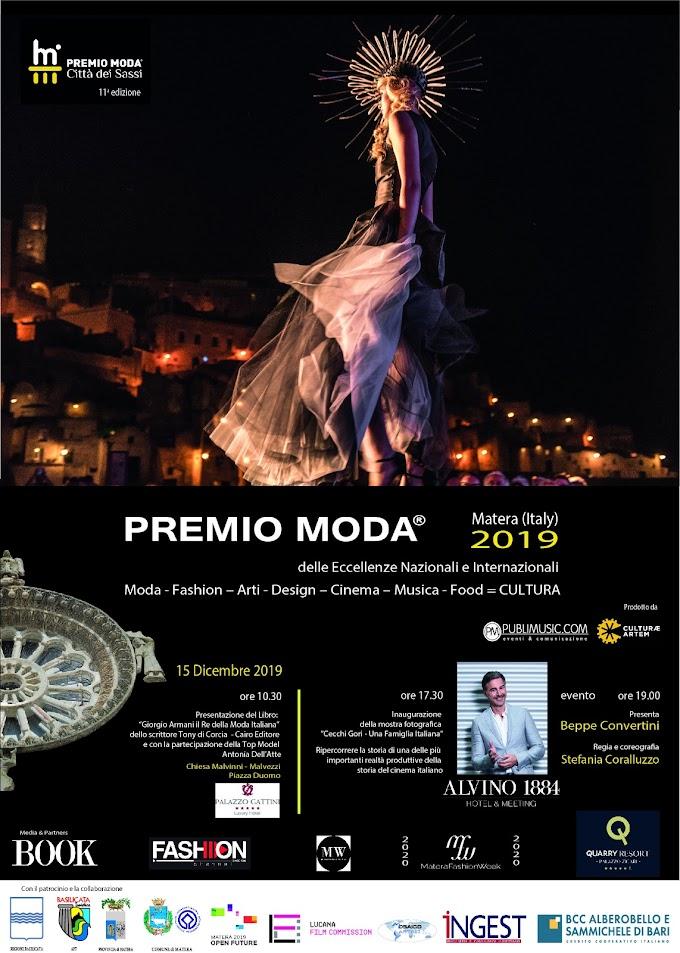 A Matera il Premio Moda 2019 'Città dei Sassi'