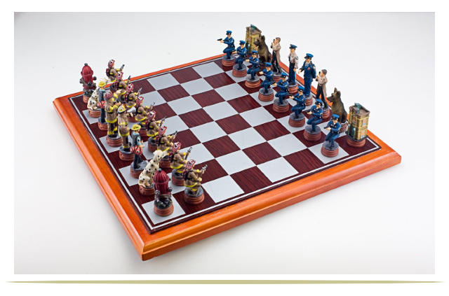 Good Chess Set I Think Itus A Supercool Idea To Feature Heroes Of The  Community In A Chess Set Including The Canine Members Of Each Team Is An  With Cool ...