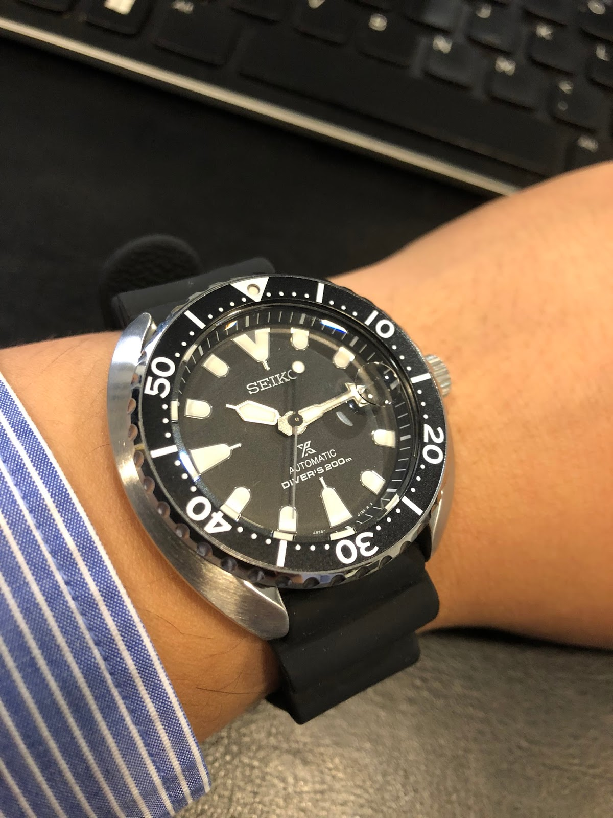 My Eastern Watch Collection Seiko Prospex Mini Turtle Srpc37k1 Skx007k2 Automatic Divers 200m Black Dial Ended 2017 With Another Take Of The Iconic 6309 Diver Yesteryear When Brand Launched Re Craft Edition Back In 2016 Under Series