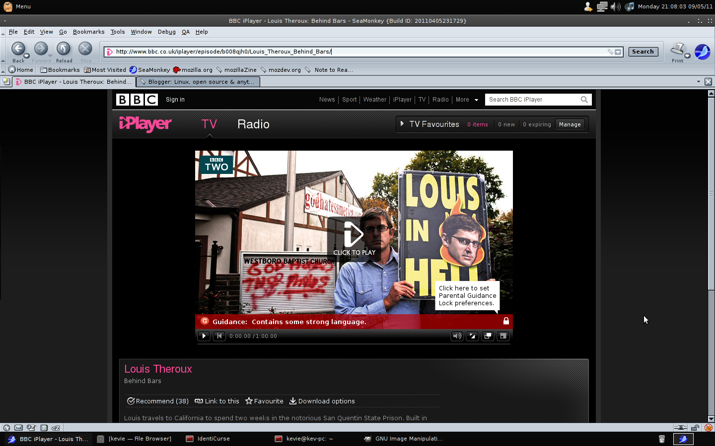 Linux, open source & anything else: Saving BBC iplayer