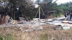 Rumah A.Pepri Simangunsong Habis Hangus Terbakar Si Jago Merah