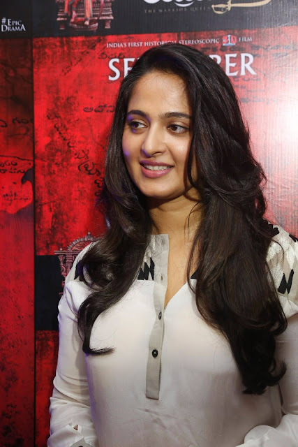 Anushka Latest Photos At Rudhramadevi Movie Press Meet