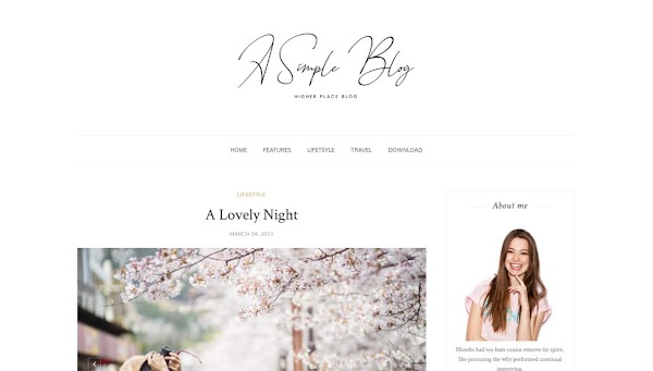 A Simple Blog Responsive Personal Blogger Template