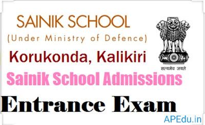 School Education Department - Sainik School, Korukonda – Entrance Examination for admission into Sainik School Korukonda for 2020-2021 Session – Constitution of  Board for Written Examination – Orders – Issued.