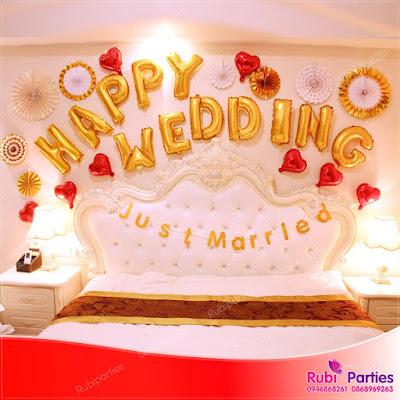 Set bóng trang trí phòng cưới HPWD02