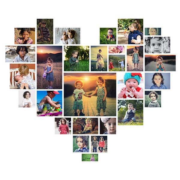 Photo Effect: Make a Heart Shaped Photo Collage Template in Photoshop