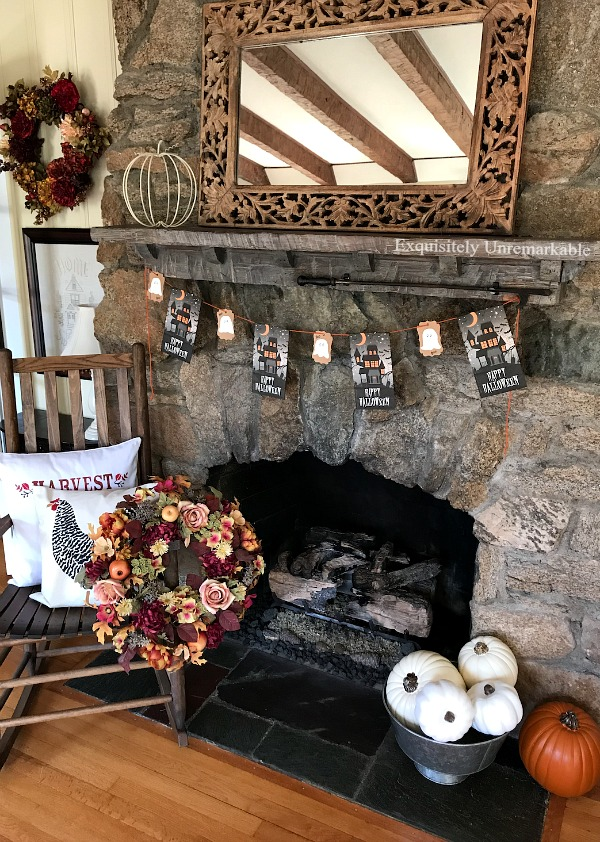 Elegant Halloween Cottage Decor