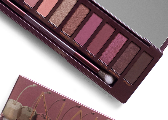Urban Decay UD Naked Cherry Eyeshadow Palette Review Photos