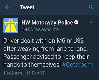 Things I Learnt In February and March - NorthWest Motorway Police twitter