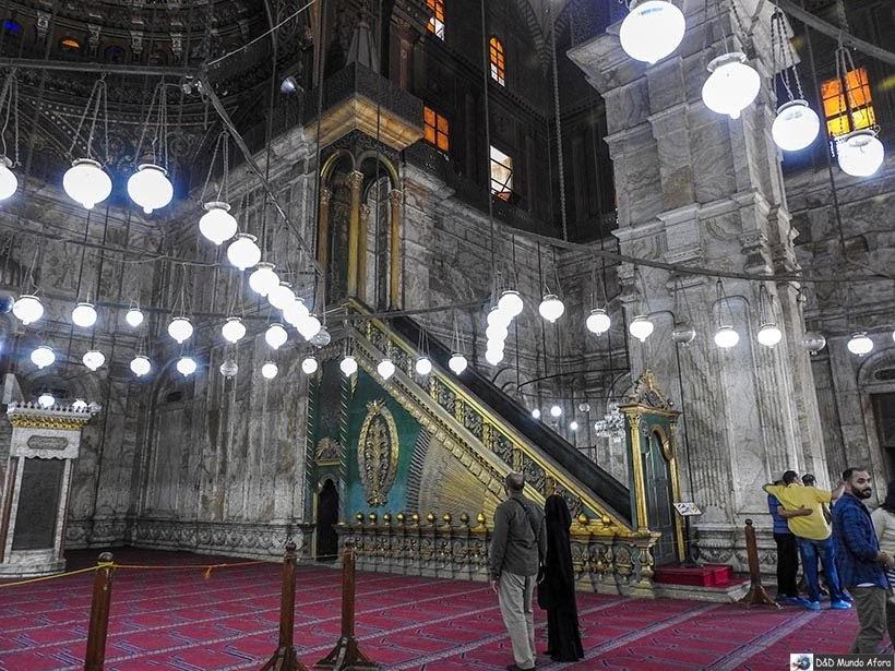 Salão da Mesquita de Mohamed Ali na Cidadela de Saladino